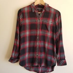 MADEWELL Button Down Flannel Style Shirt Plaid